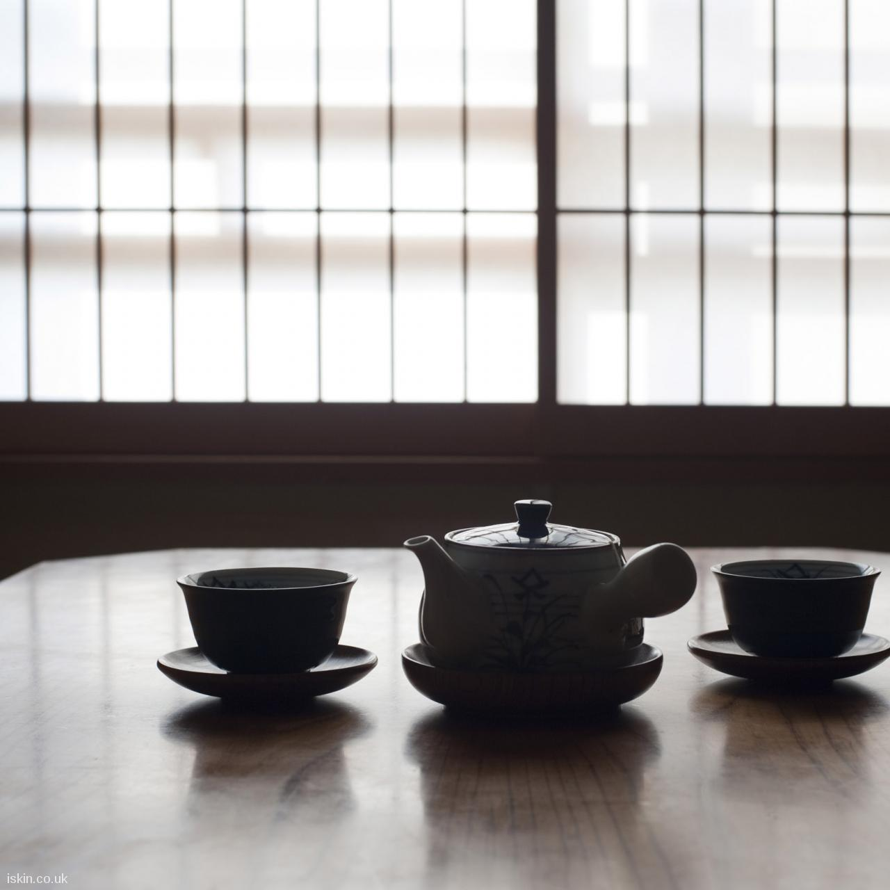 android table squarejapanese tea set