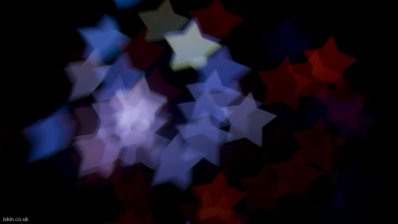 desktop image Boke Star Shapes