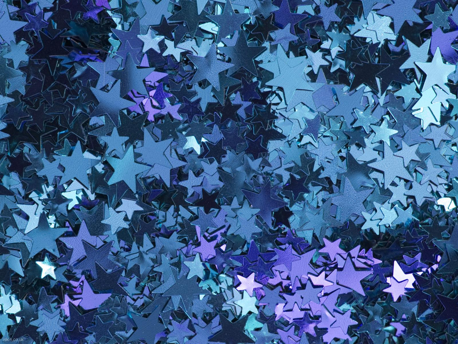 desktop image shiny blue stars