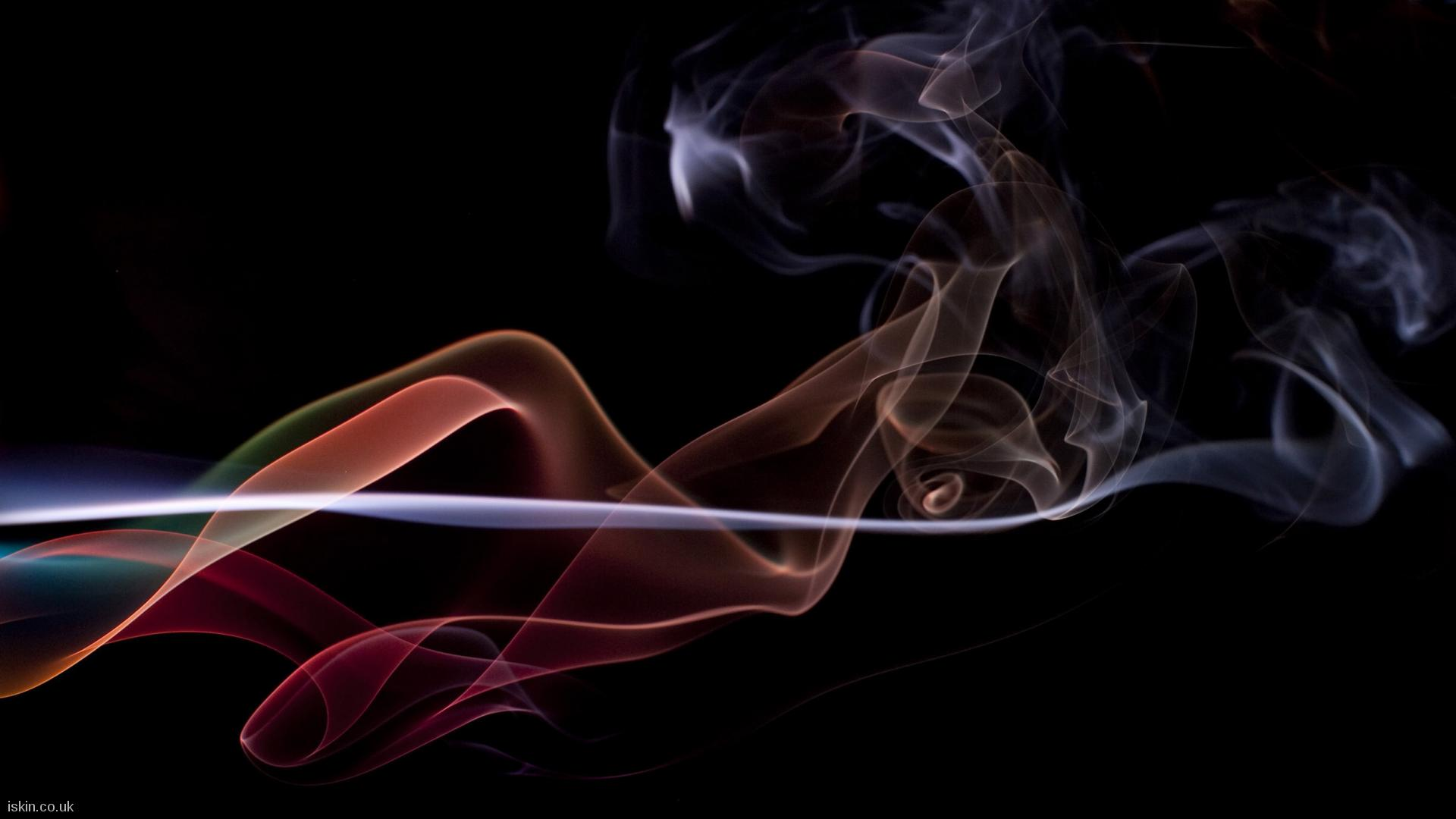 desktop image twisting smoke background