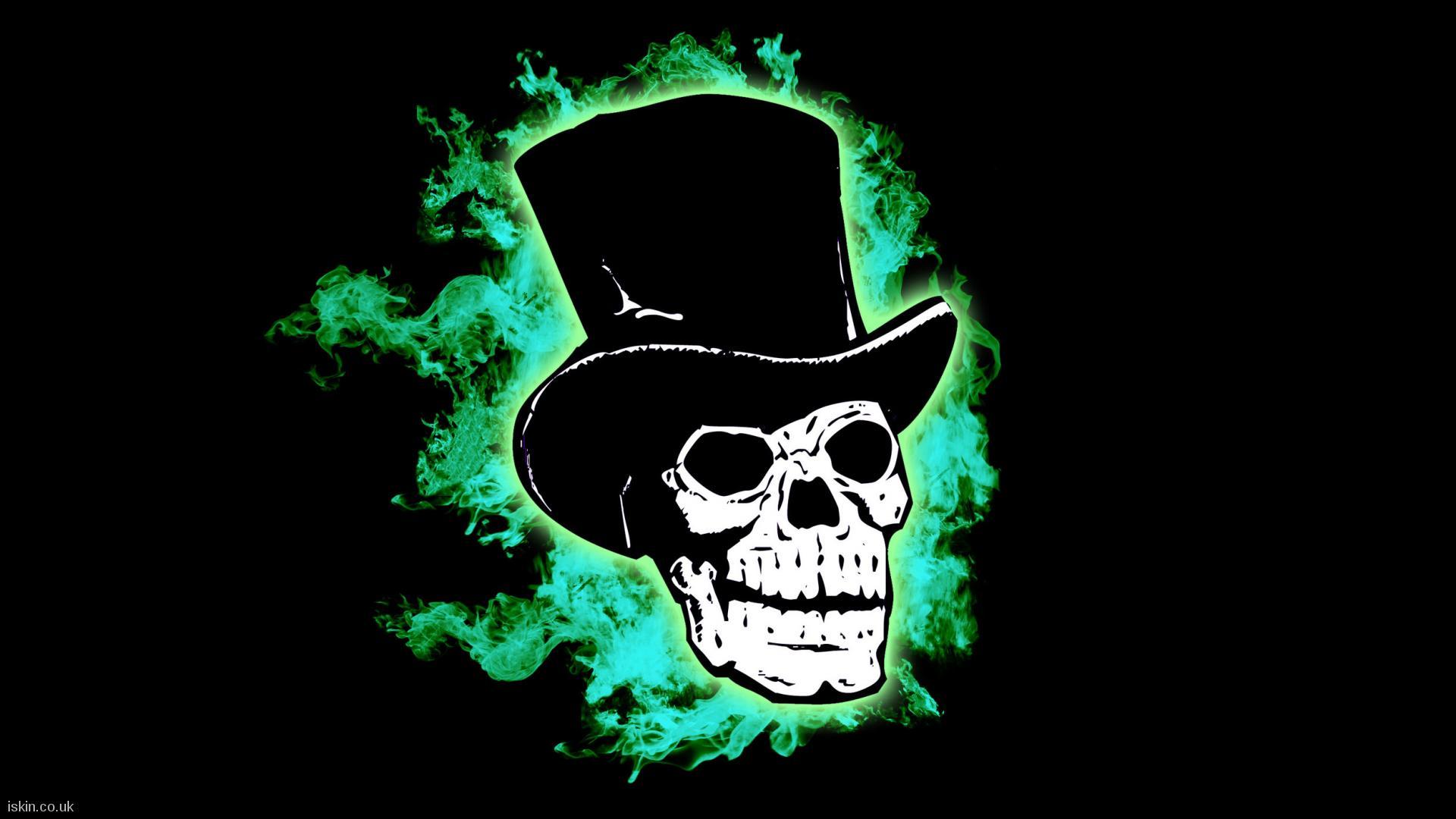 Flaming Skull Desktop Wallpaper