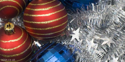 twitter header christmas baubles