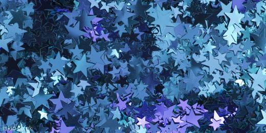 twitter header shiny blue stars