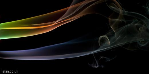 twitter header ethereal smoke lines