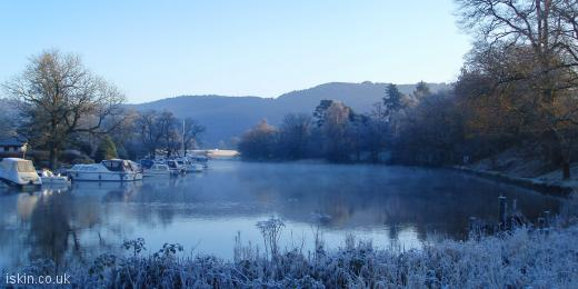 twitter header frosty winter morning