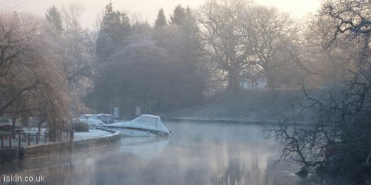 twitter header serene misty lake