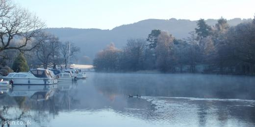 twitter header Lakeside Winter Morning