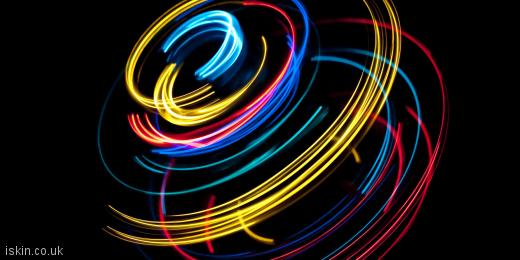 twitter header light spin