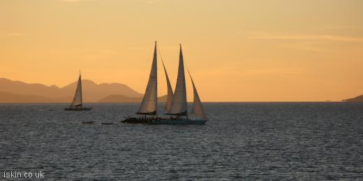 twitter header Sailing at Sunset