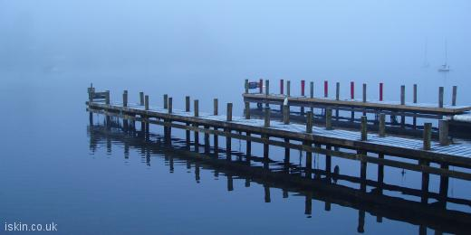 twitter header Misty Lake Reflection