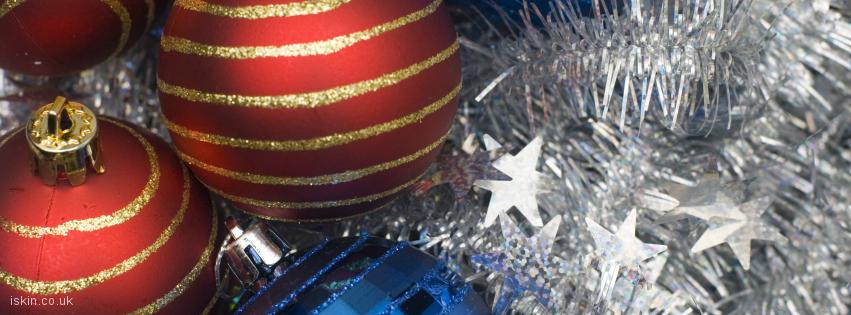 facebook header christmas baubles