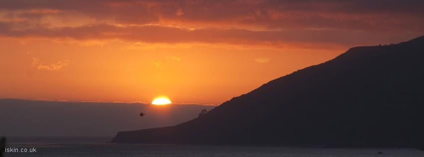 facebook header Big Sur Sunset