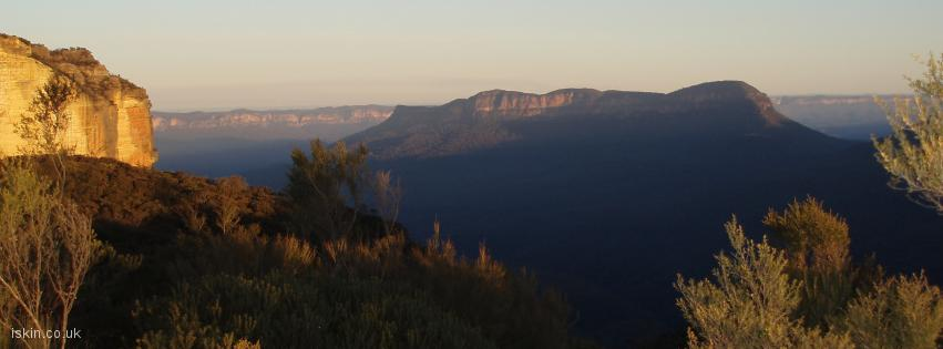 facebook header Blue Mountains Sunset