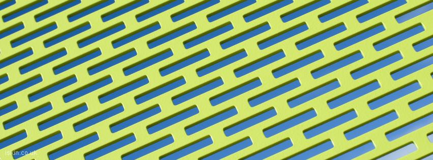 facebook header green metal grid