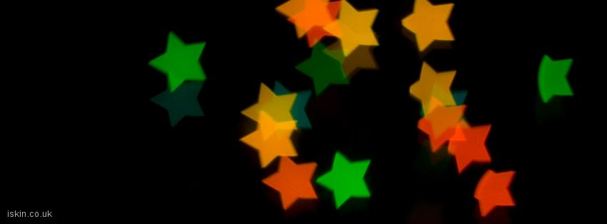 facebook header Christmas Star Lights