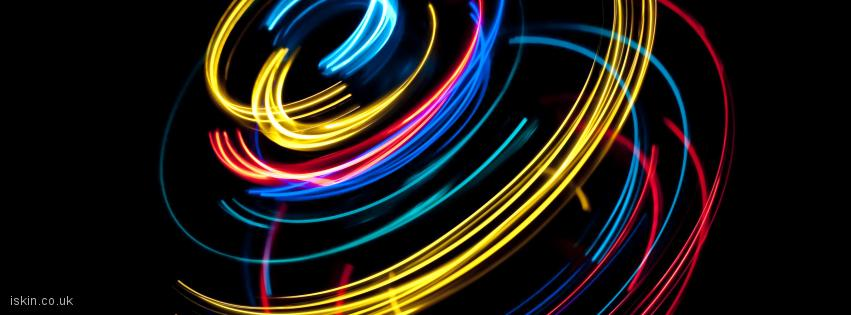 facebook header light spin