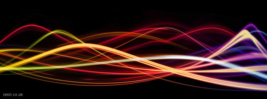 facebook header lightwaves - lines of light