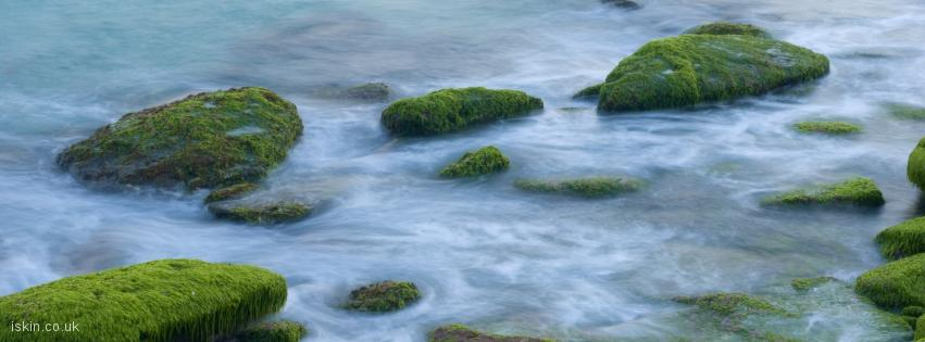 facebook header Ocean rocks abstract