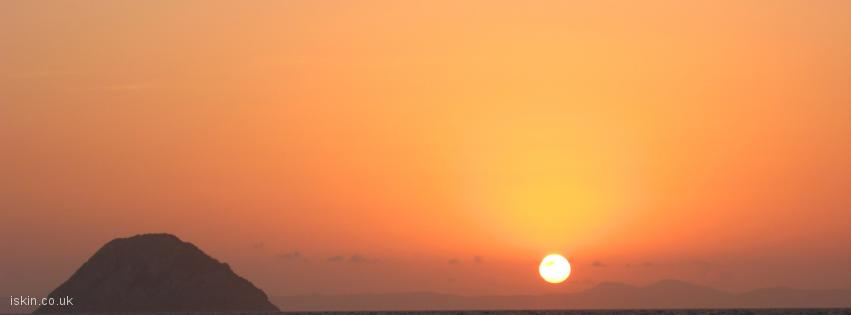 facebook header sunset fireball