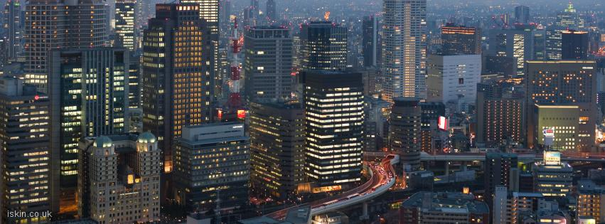 facebook header osaka skyline