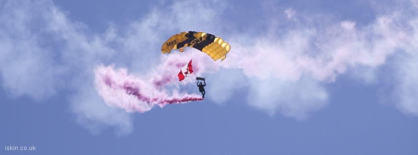 facebook header army parachute display
