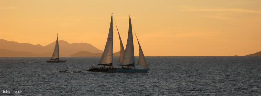 facebook header Sailing at Sunset