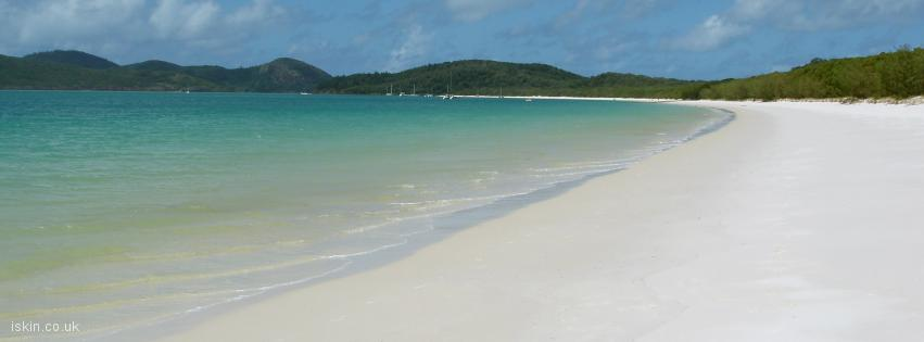 facebook header Whitehaven Beach