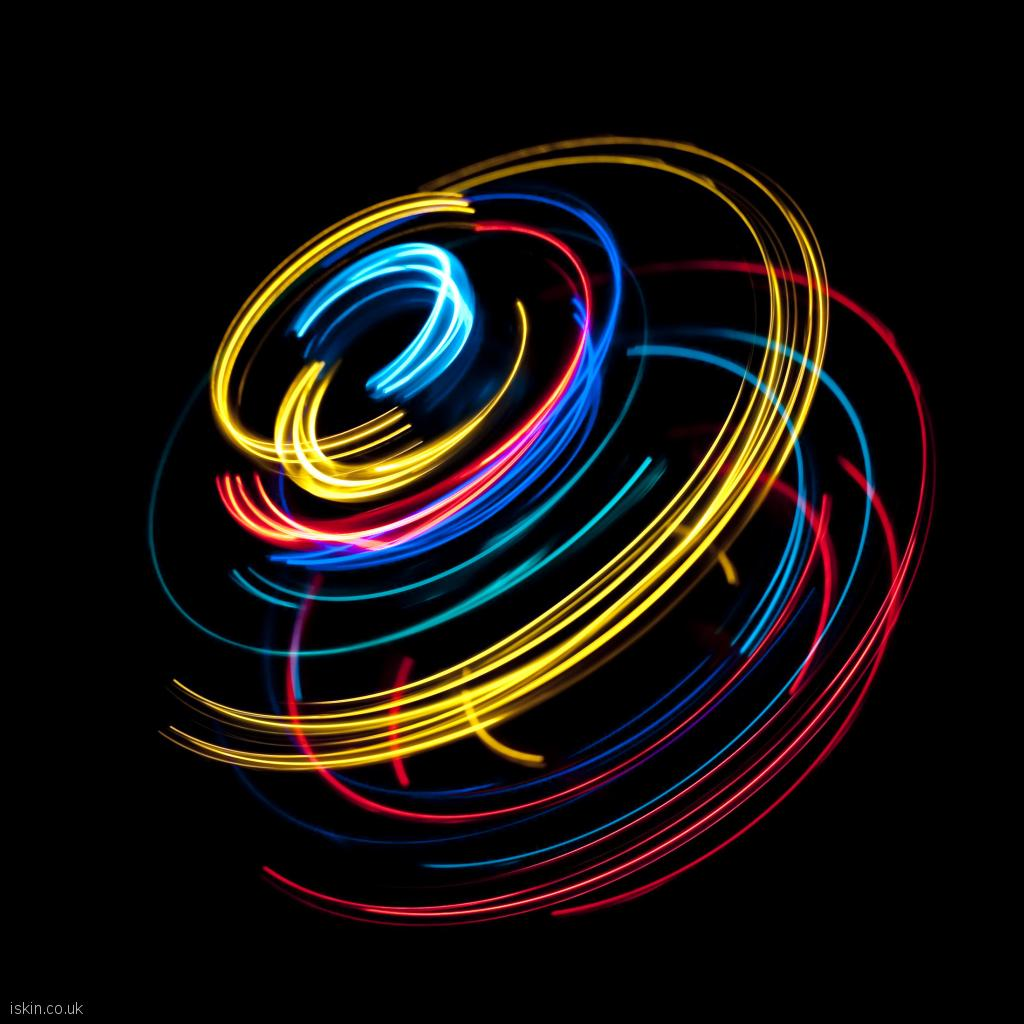 ipad wallpaper light spin