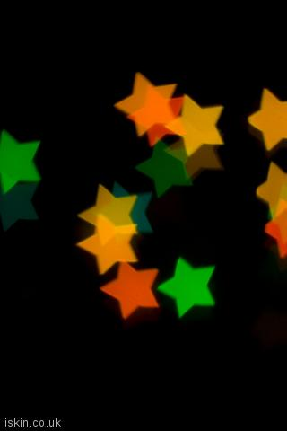 iphone portrait wallpaper Christmas Star Lights