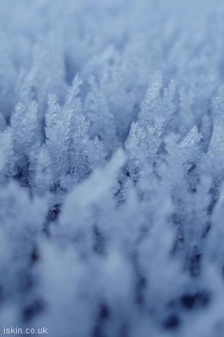 iphone portrait wallpaper Ice Crystals