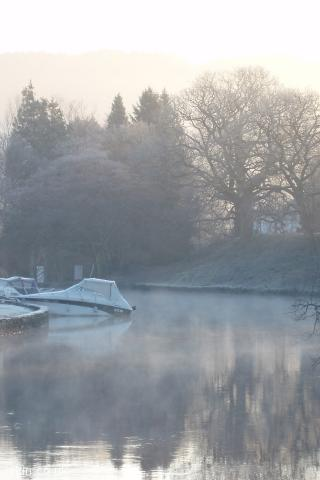 iphone portrait wallpaper serene misty lake
