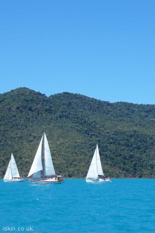iphone portrait wallpaper Whitsunday Yacht Sailing