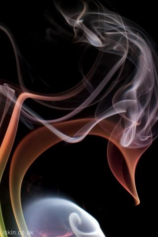 iphone portrait wallpaper chaotic smoke cloud