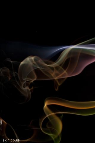 iphone portrait wallpaper colorful smoke whisps