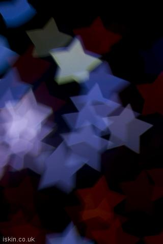 iphone portrait wallpaper Boke Star Shapes
