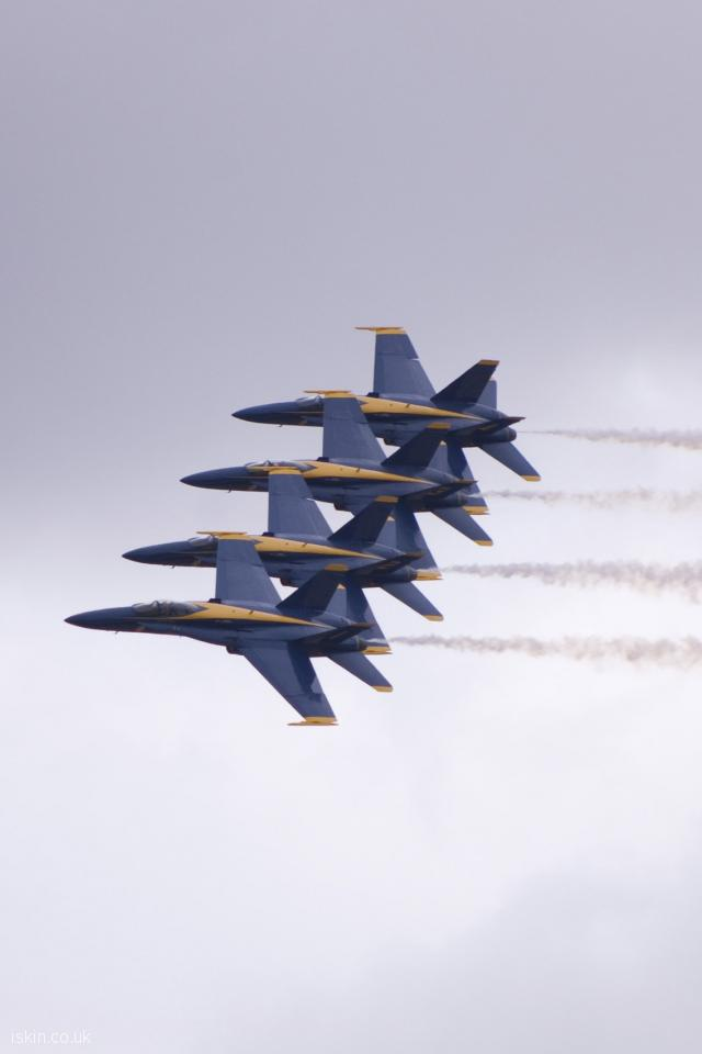iphone 4 portrait wallpaper Blue Angels Formation