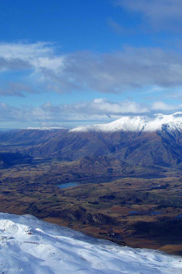 iphone 4 portrait wallpaper The Remarkables Snowline
