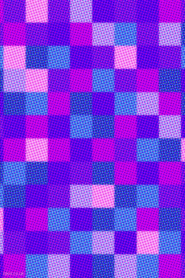 iphone 4 portrait wallpaper halftone dots and squares