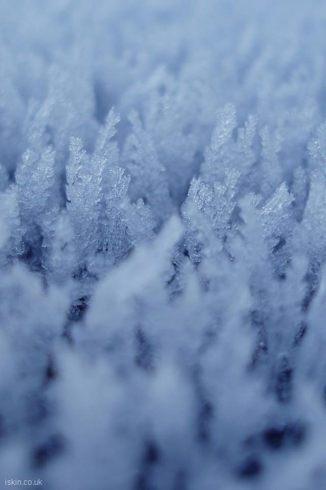 iphone 4 portrait wallpaper Ice Crystals