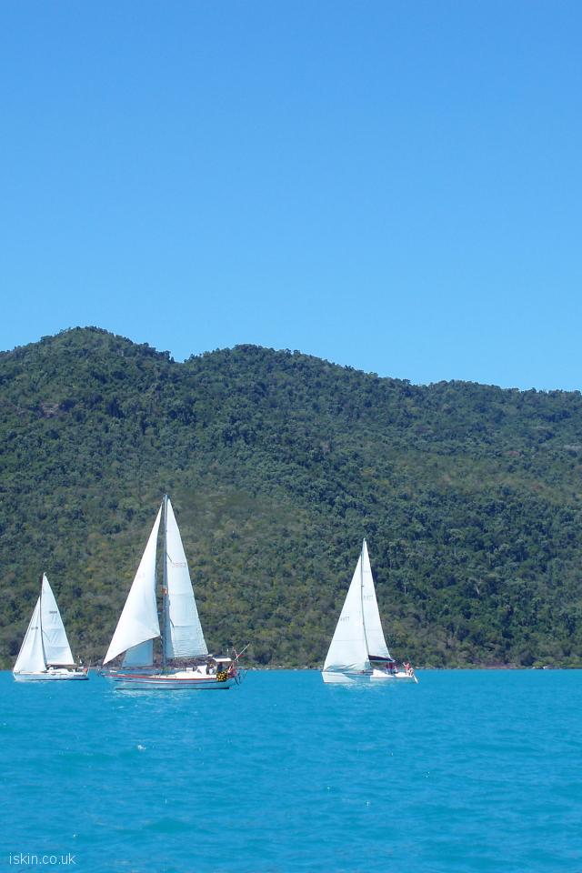 iphone 4 portrait wallpaper Whitsunday Yacht Sailing