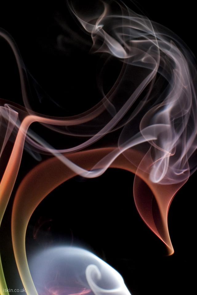 iphone 4 portrait wallpaper chaotic smoke cloud