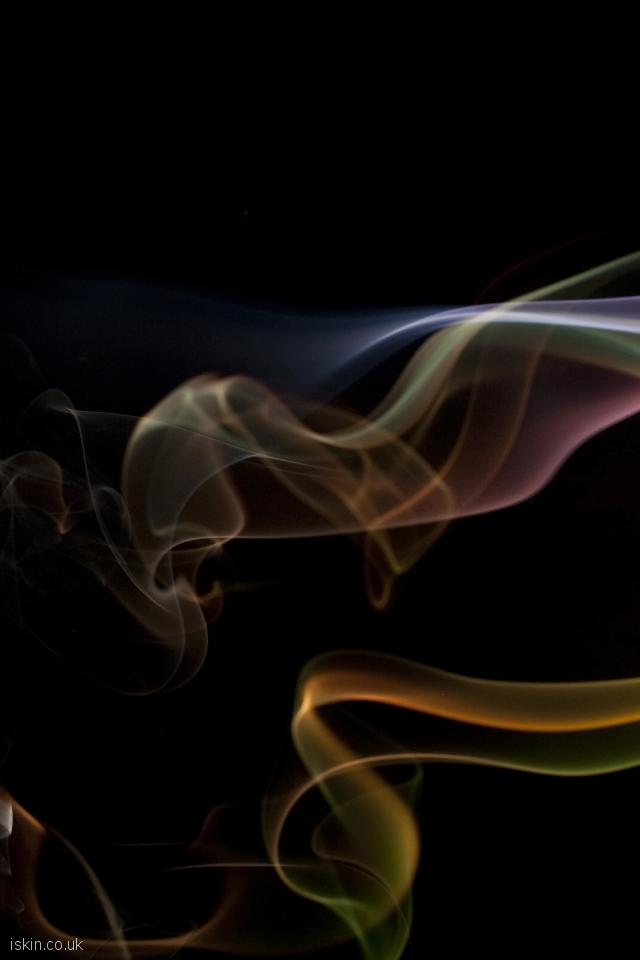 iphone 4 portrait wallpaper colorful smoke whisps