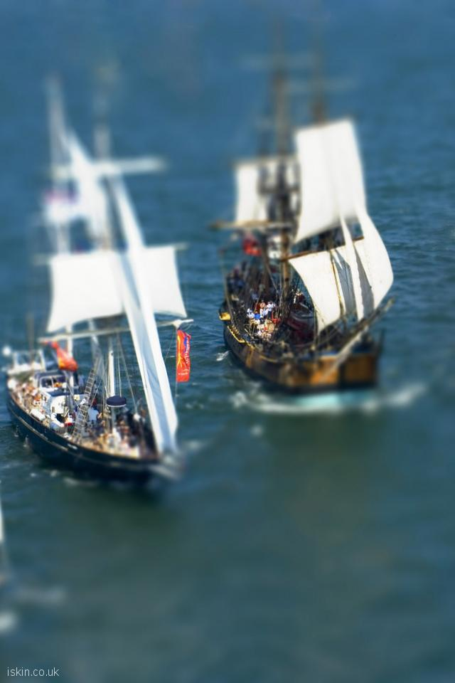 iphone 4 portrait wallpaper Square Rig Sailing Ships