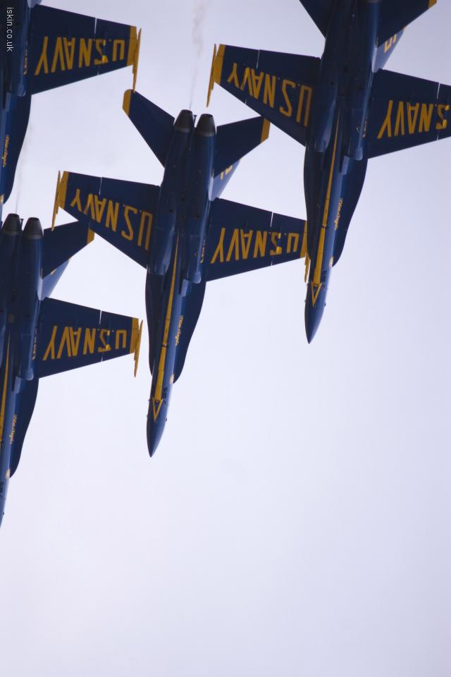 iphone 4 landscape wallpaper Blue Angels Display Team