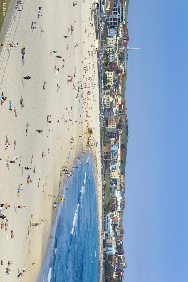 iphone 4 landscape wallpaper Bondi beach