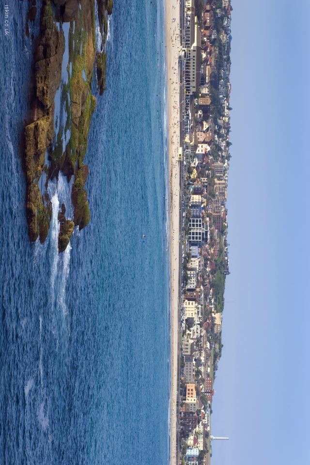 iphone 4 landscape wallpaper Bondi Beach View