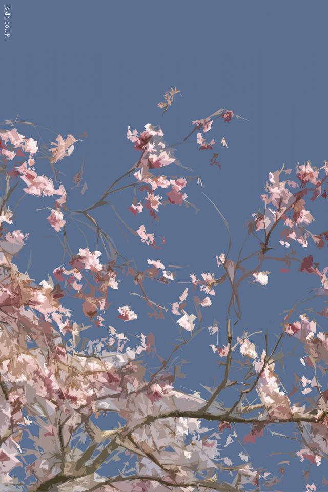 iphone 4 landscape wallpaper Cherry Blossom Graphic