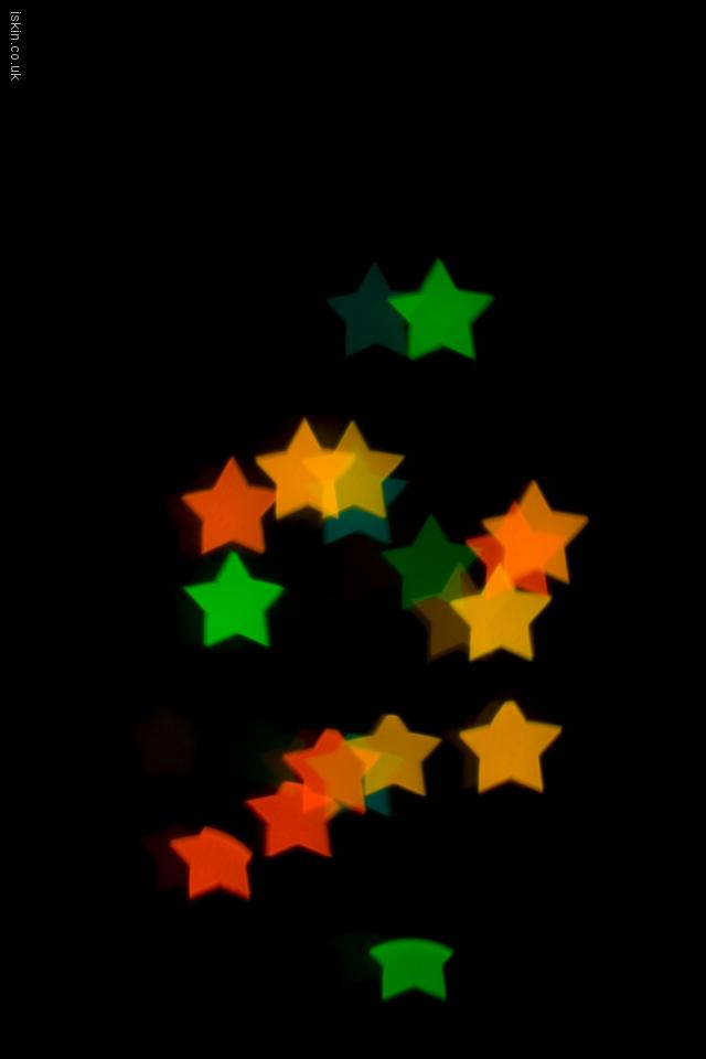 iphone 4 landscape wallpaper Christmas Star Lights
