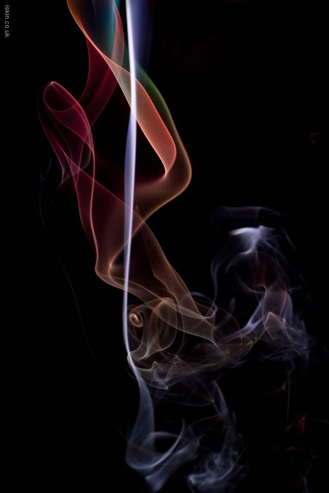 iphone 4 landscape wallpaper twisting smoke background