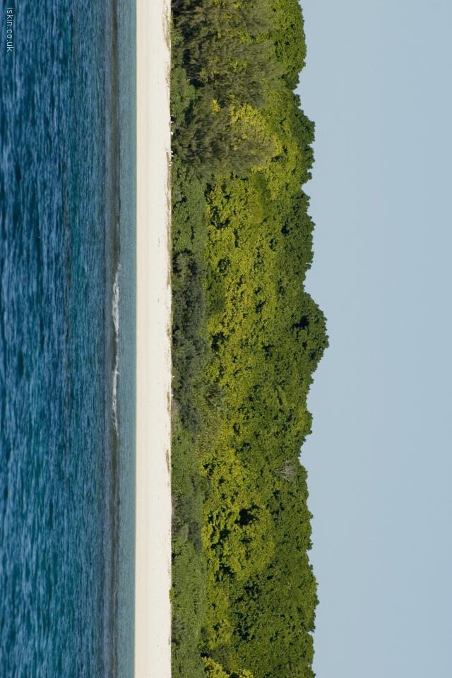 iphone 4 landscape wallpaper Coral Island